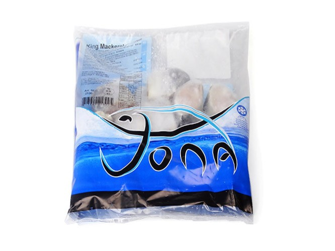 JONA Kingfish steaks skin on 50-150 gr 10 x 1 kg IQF-SR