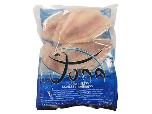 JONA Tilapia fillets skin&boneless 100-140g10x1kg IQF 20%-CN