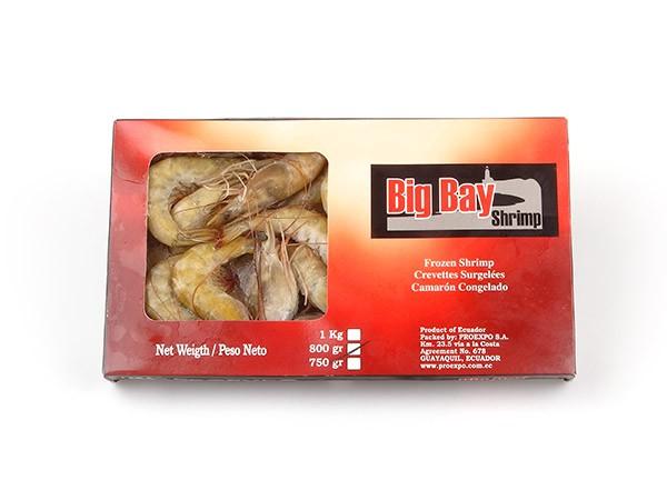 Vannamei shrimps HOSO 20/30 12 x 1 kg 20% -ECUADOR