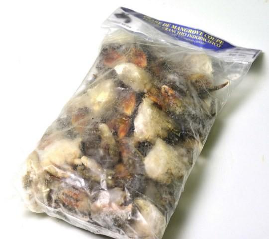 SMALL Cut Petit mangrove Crab (12+ pcs/kg) 12 x 1 kilo-MG