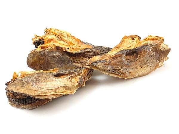 Codfish Heads  Dried -Gadus morhua-  30 kg bale - NO