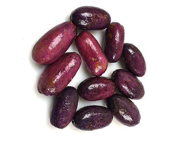 Ripe african purple plums / Safu 60 x 500 g -CM