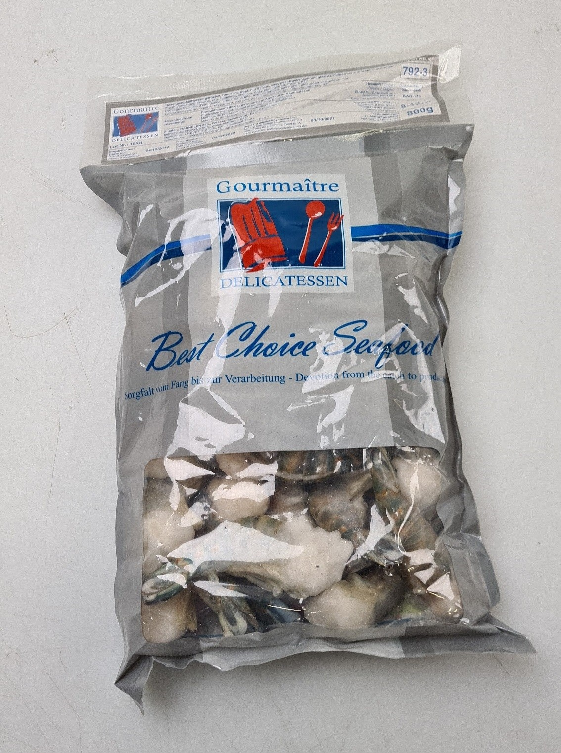 Fresh water Shrimps HLSO FC 8/12 10x1kg 80%- BD
