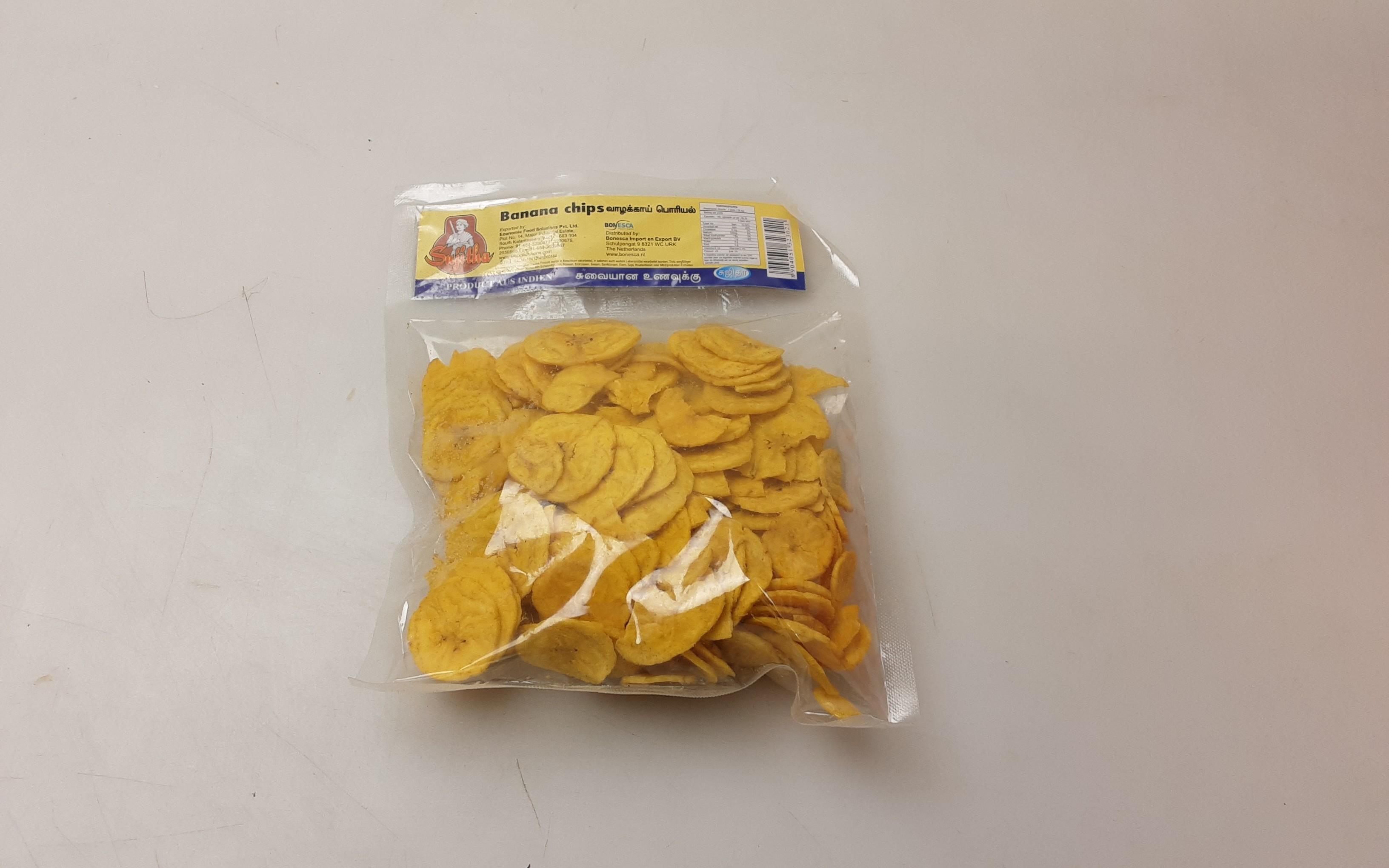 Sujitha Banana Chips 36 x 150 g -IN