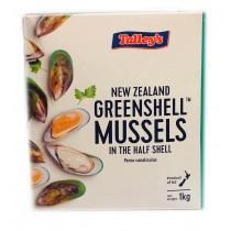 Mussels halfshell medium 30/40 12 x 1kg 0%-NZ