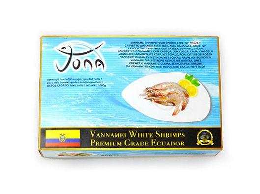 JONA Premium Vannamei shrimps HOSO 30/40 6 x 2 kg 20% -EC